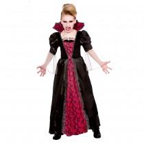 Girls Victorian Vampiress Fancy Dress Costume