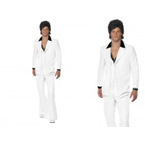 Adult 70's Mens White Suit Costume