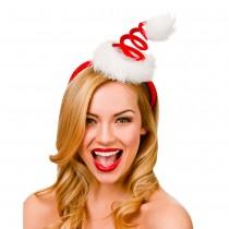 Spiral Santa Hat on headband